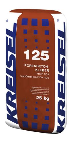 Кладочная смесь для блоков PORENBETON-KLEBER 125 Kreisel
